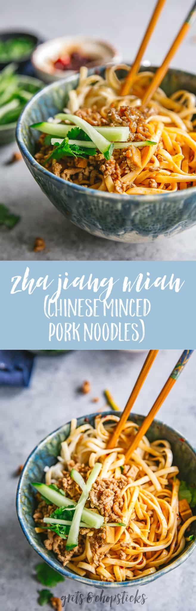 Try your hand at making zha jiang mian (Chinese minced pork noodles) -- it's like Chinese spaghetti! Recipe and blog post