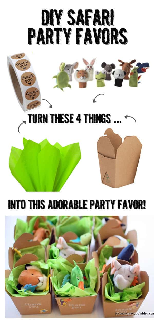 diy safari party favors