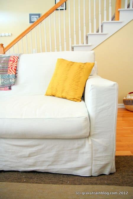 diy sofa slipcover