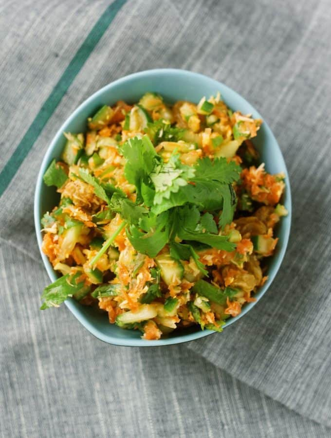 sr lankan coconut and carrot salad