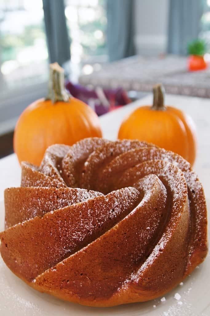 olive oil pumpkin bundt cake