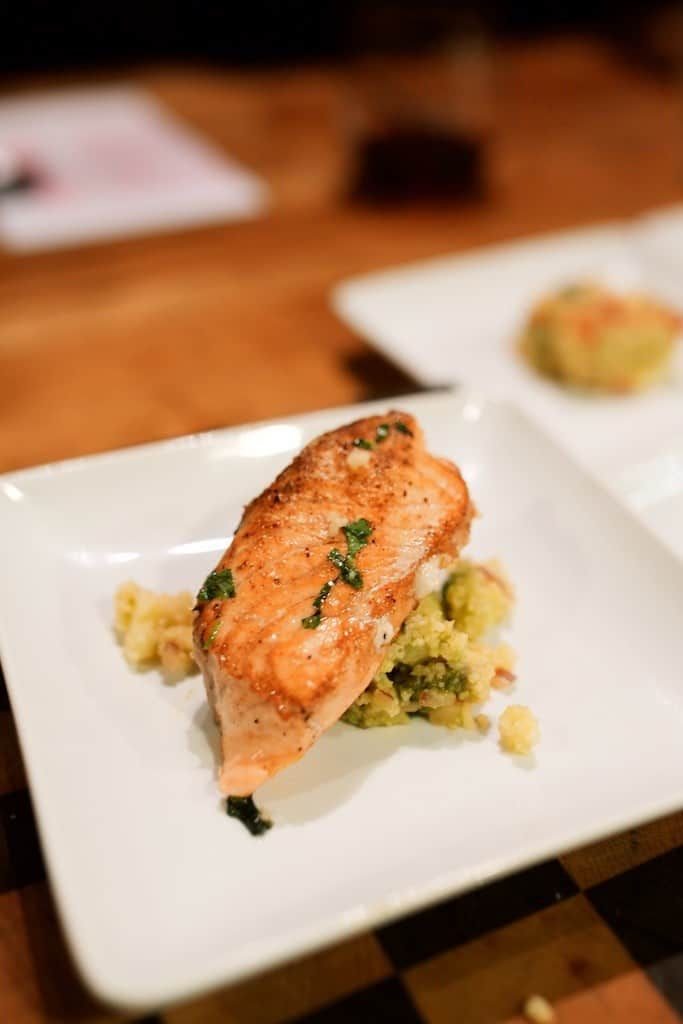 salmon with avocado couscous r kitchen russ webb