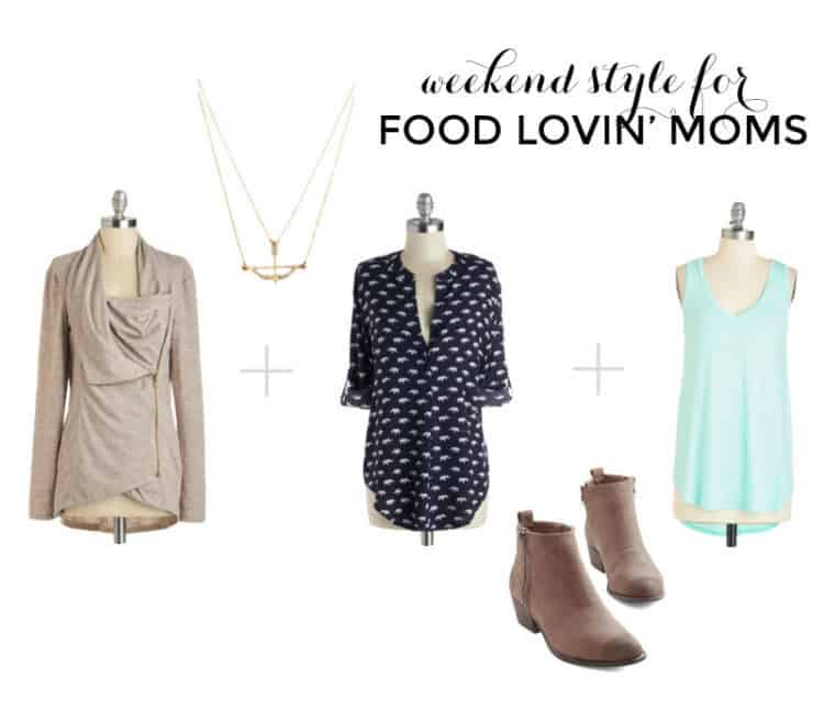 style board for weekend moms by grits and chopsticks for modcloth
