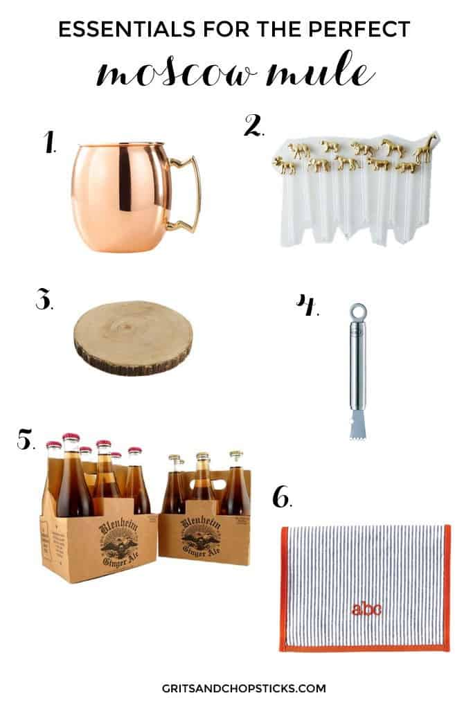 bar essentials for a moscow mule