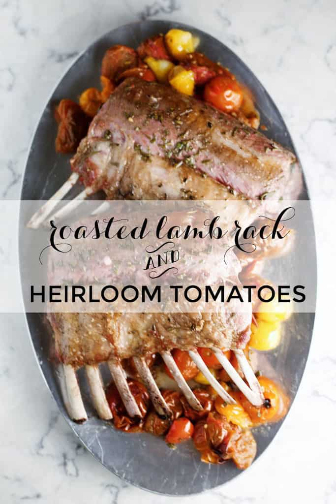 This roasted rack of lamb with heirloom tomatoes couldn't be easier to make, and it looks so fancy, too!
