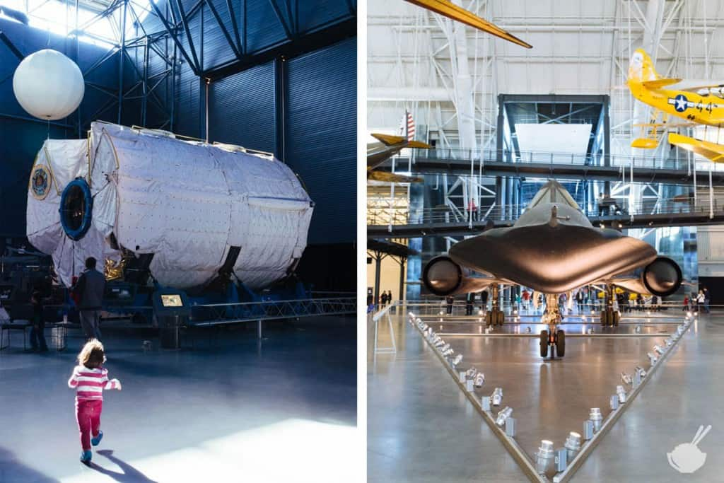 3 kid-friendly weekend trips from washington dc - udvar hazy with a toddler air and space museum