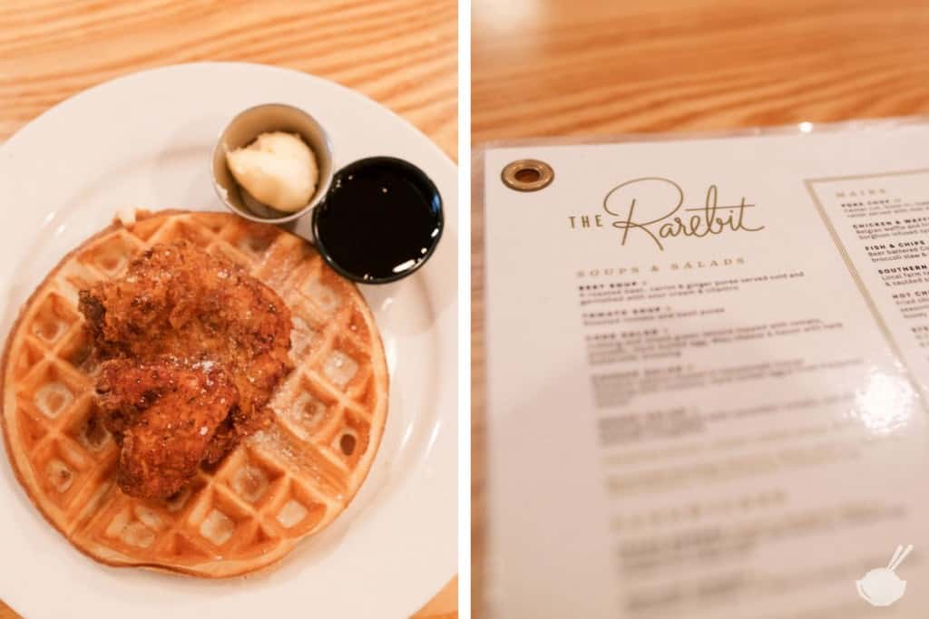 the rarebit in charleston's chicken and waffles and menu