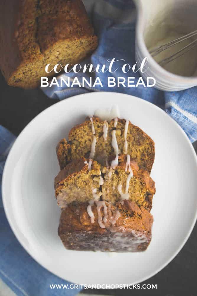 coconut oil banana bread
