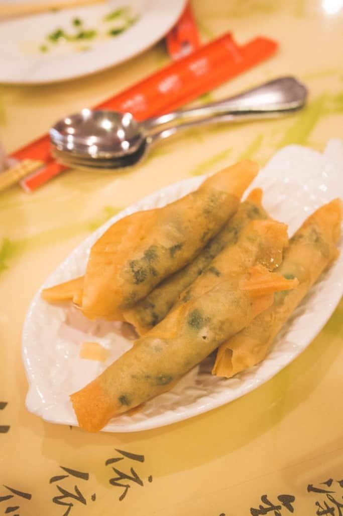 peter chang coriander fish rolls