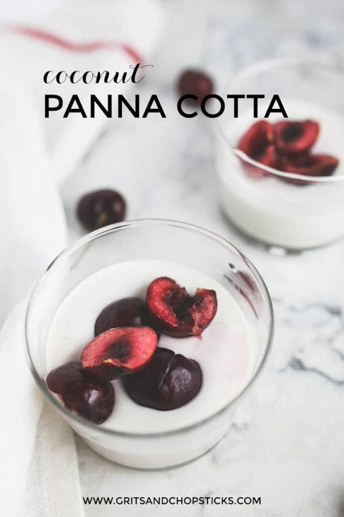 coconut-panna-cotta with cherries