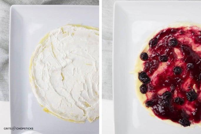 blueberry-ricotta-crepe-cake