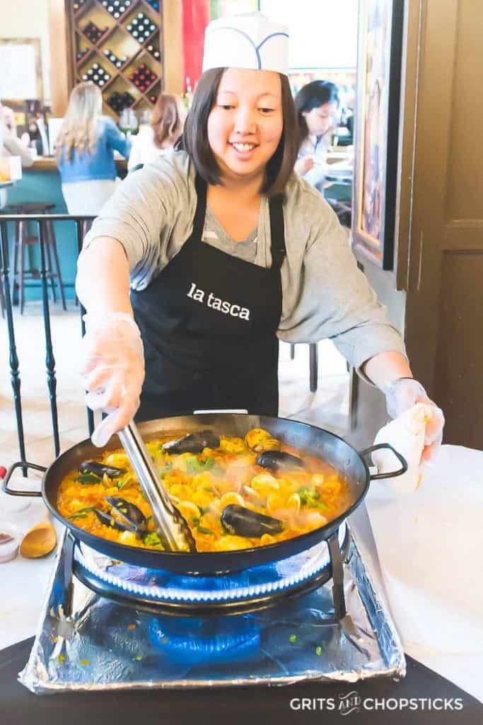 la tasca paella cooking class