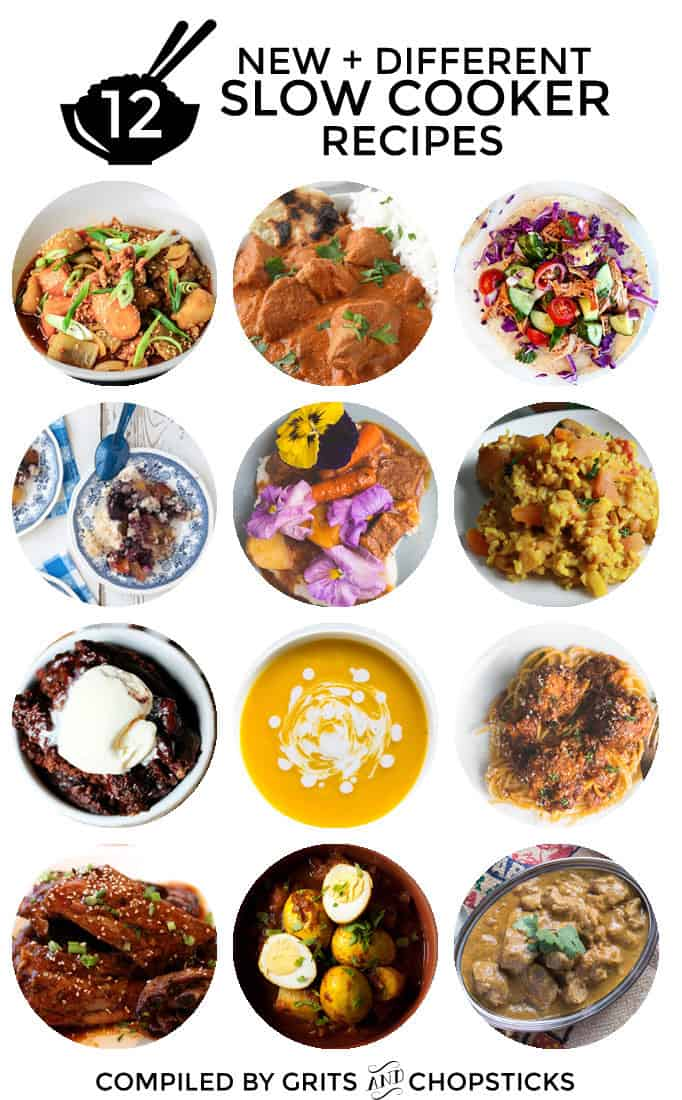 A roundup of 12 new and different slow cooker recipes