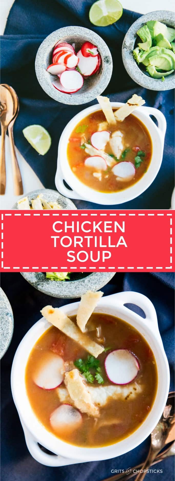 This chicken tortilla soup is easy to make on a weeknight and perfect for cooler fall nights