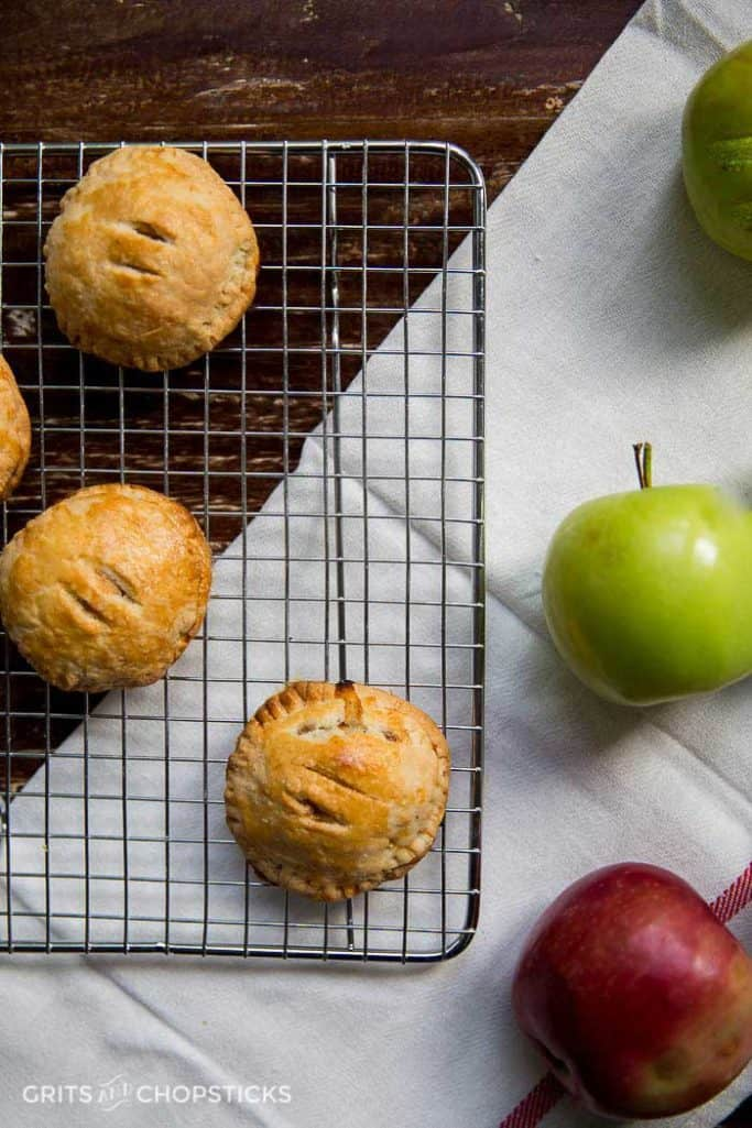 aBrie, pecan and apple hand pies make an adorable fall treat