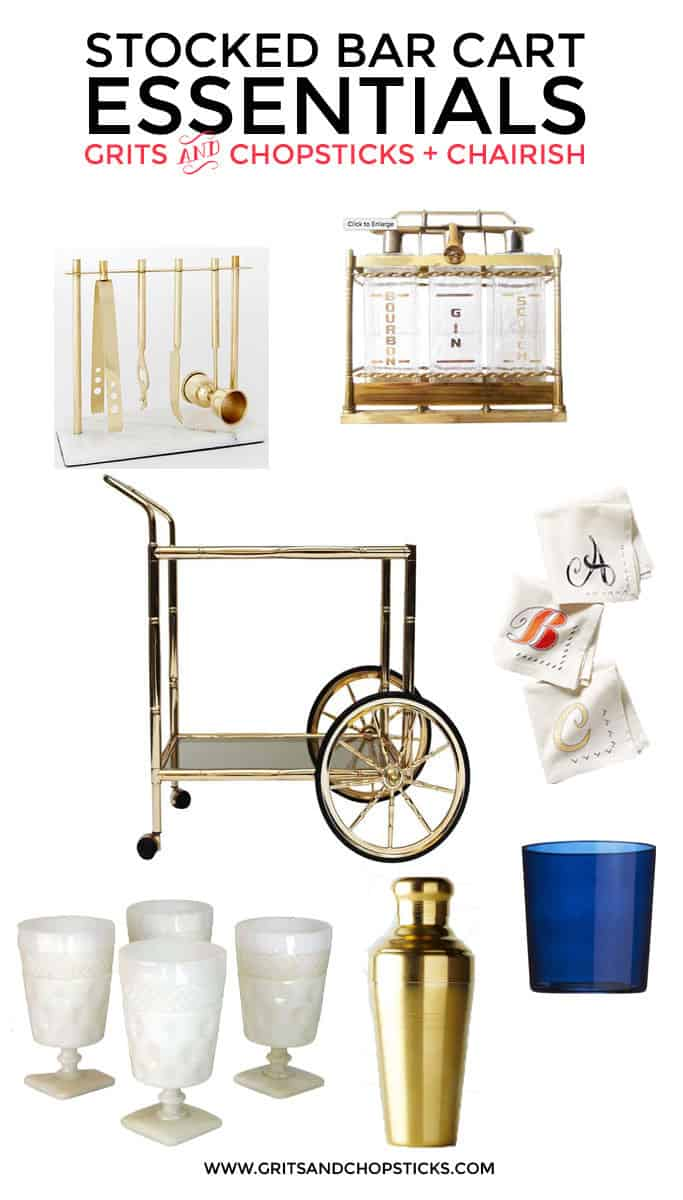 stocked bar cart essentials (with chairish)