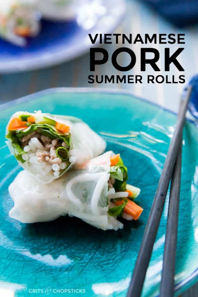Summer might be over, but Vietnamese pork summer rolls are an easy weeknight meal year-round. Try it tonight!