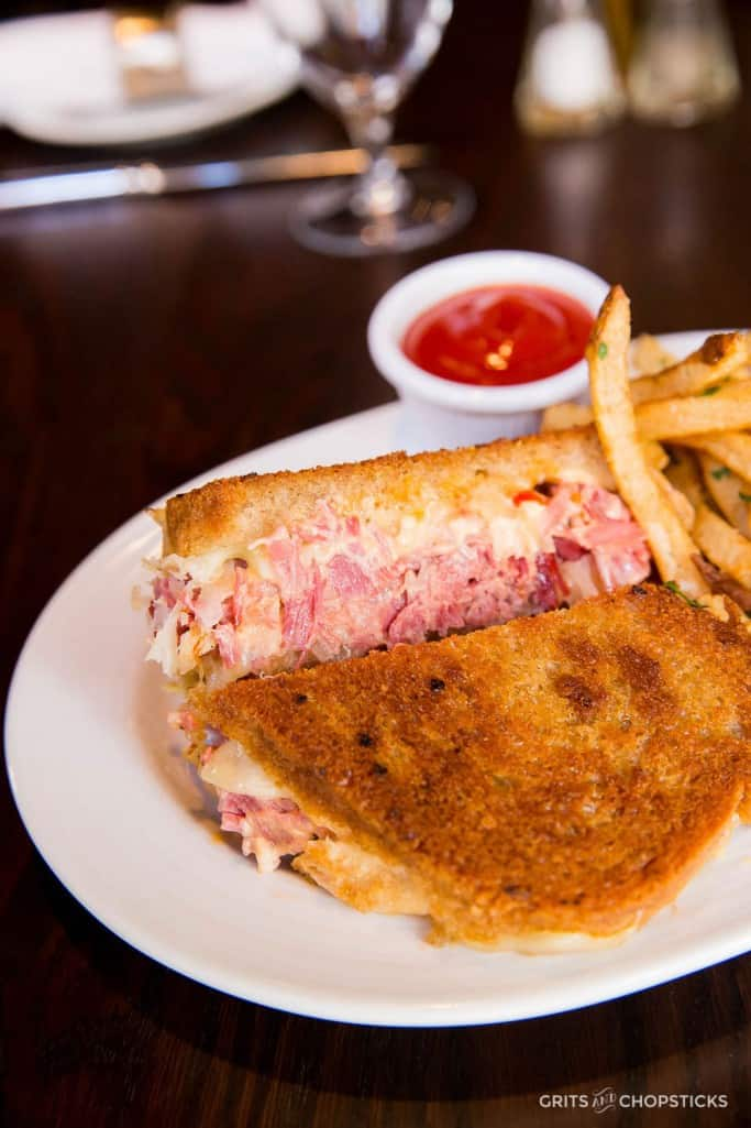 Barony Tavern in Charleston, South Carolina has a great Reuben sandwich made with house made corned beef