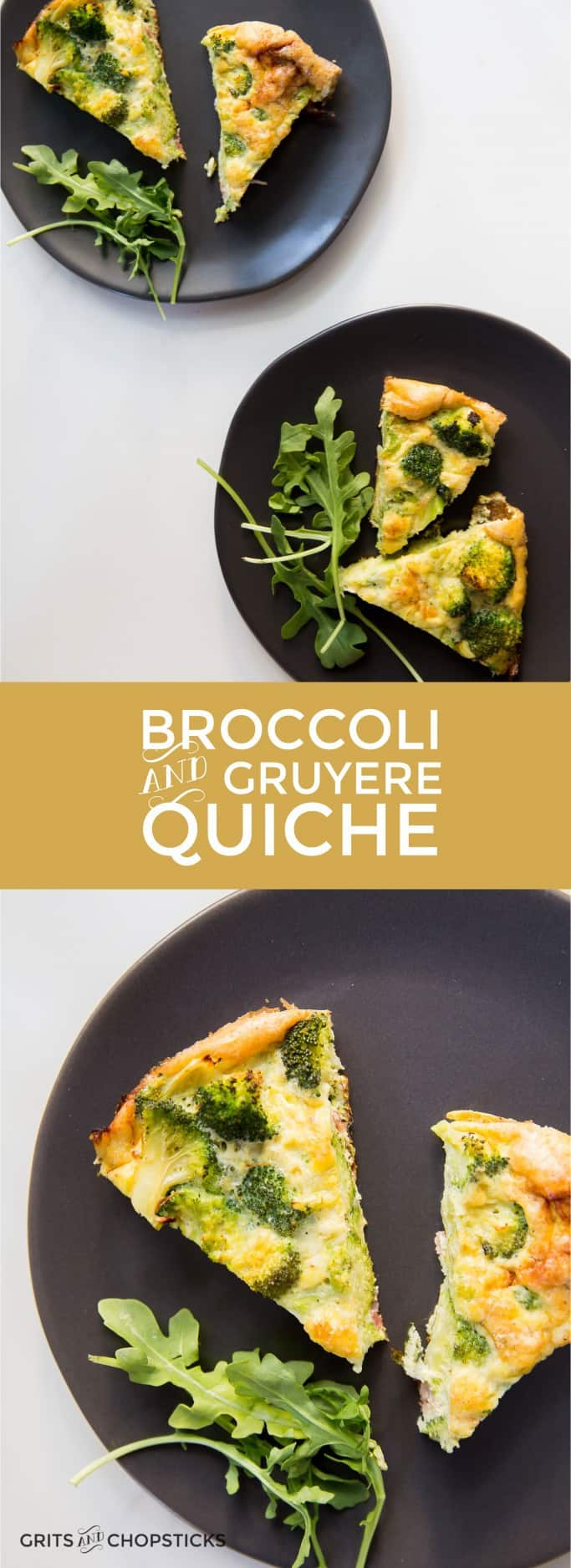 This broccoli and Gruyere quiche is a great, easy one-dish meal for Meatless Monday!