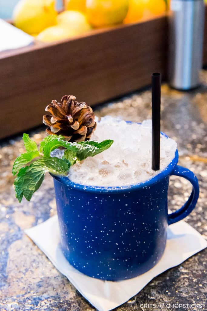This Cabin Fever cocktail by Earl's Kitchen + Bar in Tysons Corner is a cozy winter cocktail