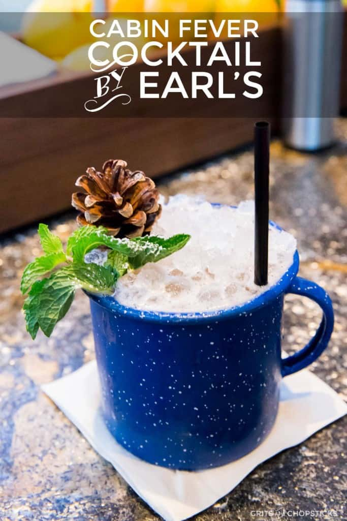 The Cabin Fever Cocktail at Earl's Kitchen + Bar in Tysons Corner, Virginia