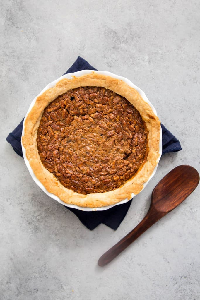Whisky pecan pie is a perfect holiday dessert
