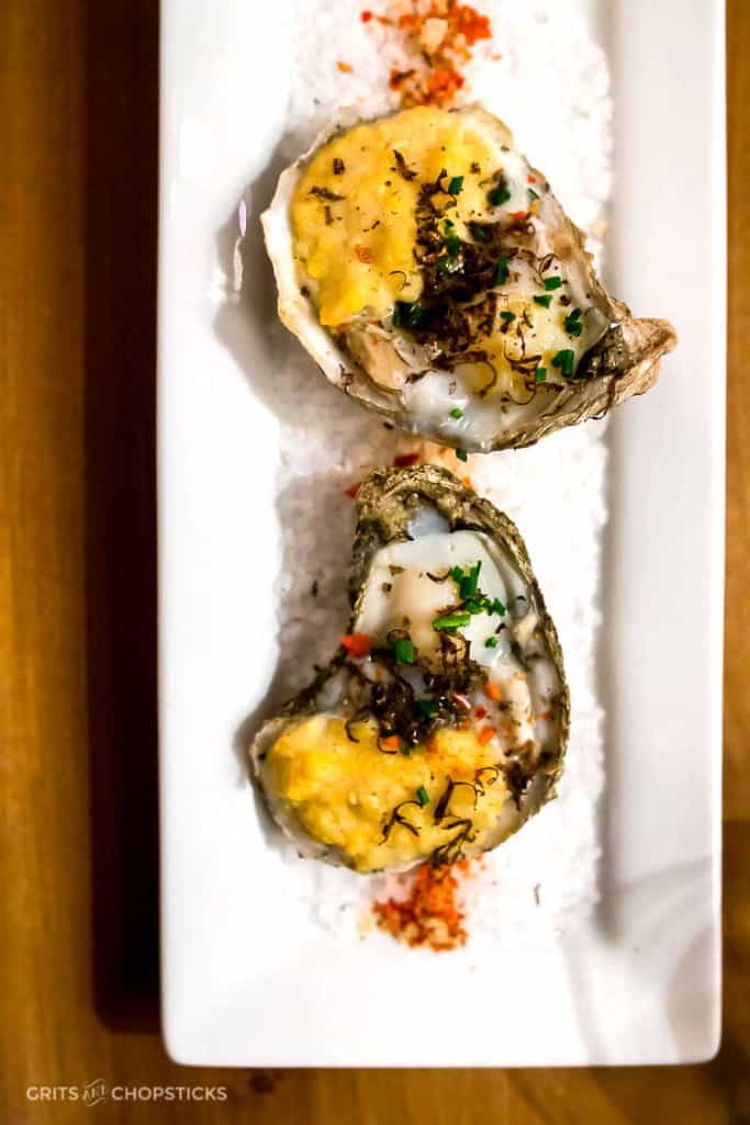 Broiled Oysters in 5Church Charleston