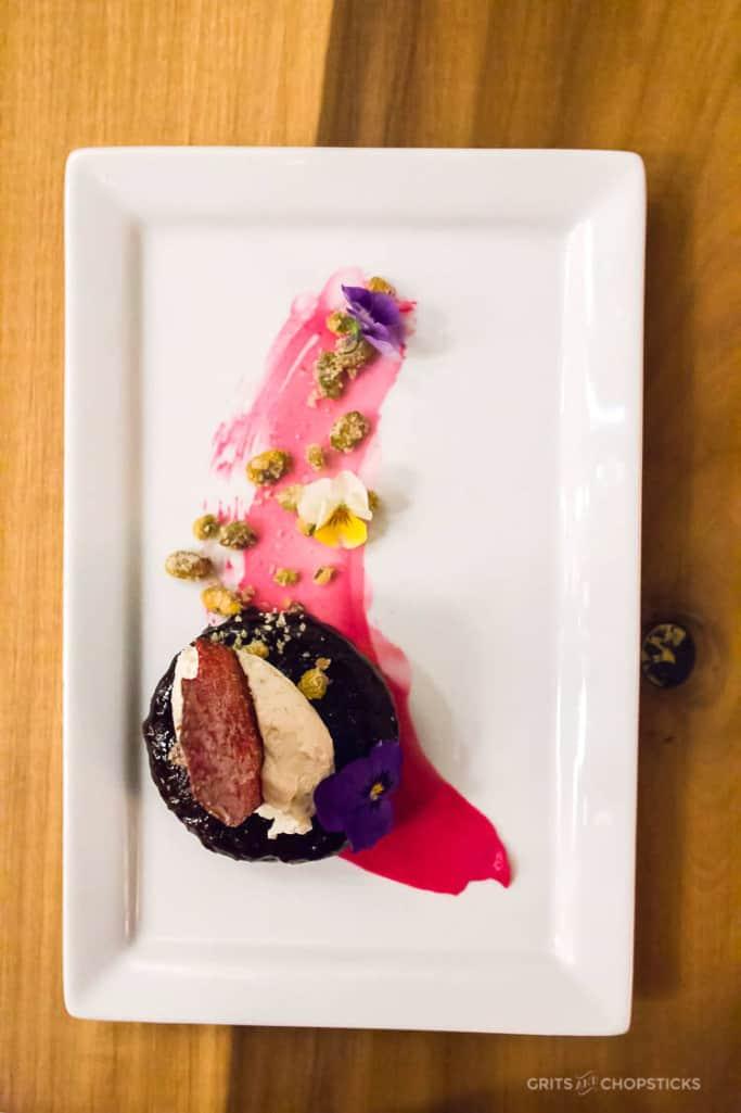 red velvet cake from 5church restaurant in charleston, sc