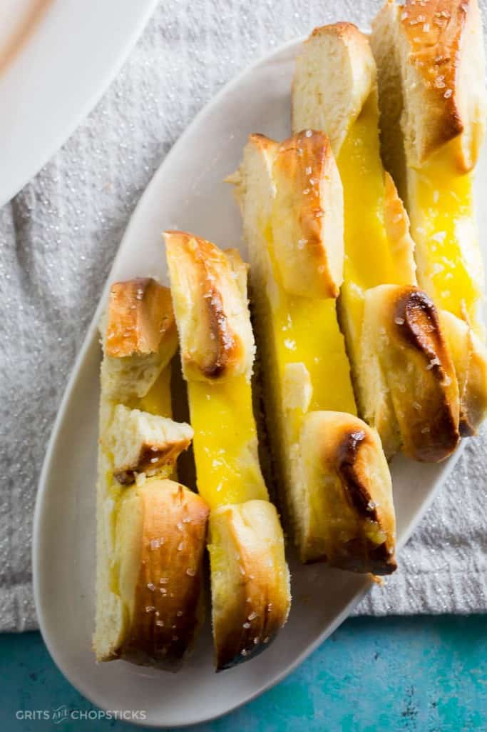 This lemon curd twist bread with a tart, wobbly lemon curd and smooth cream cheese filling is perfect for breakfast and can be made ahead.