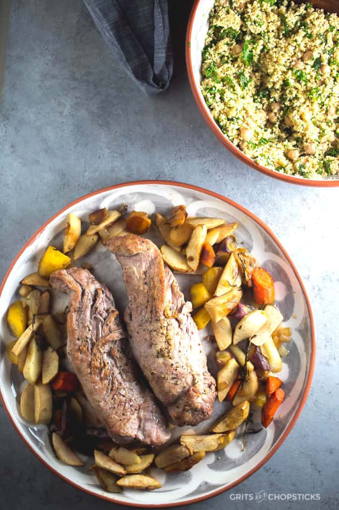 roast-pork-with-carrots-and-apples