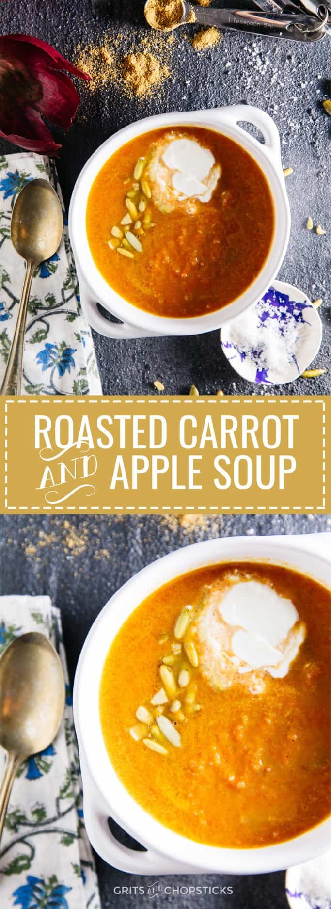 A weekday recipe for a comforting, rustic roasted carrot and apple soup