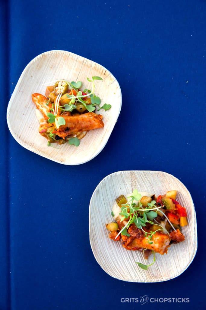 Harissa Braised Octopus by Chef Matthew Basford of Canoe in Atlanta, GA