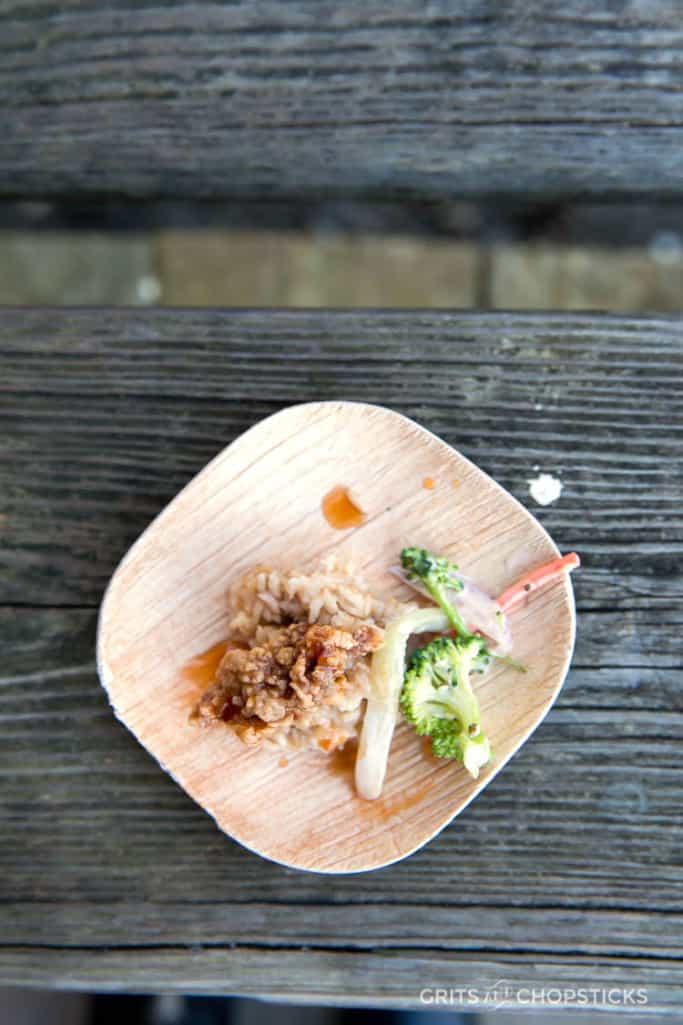 Fried General Tso's Oyster by Chef Jonathan Banta of The Atlantic Room in Kiawah Island, South Carolina