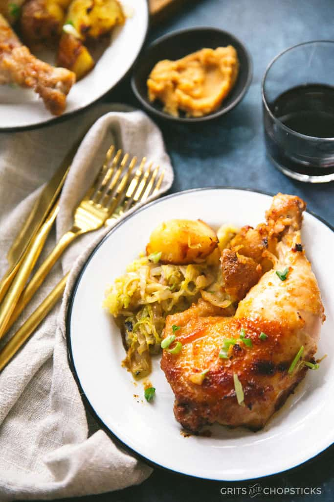 roasted miso butter chicken - Grits & Chopsticks