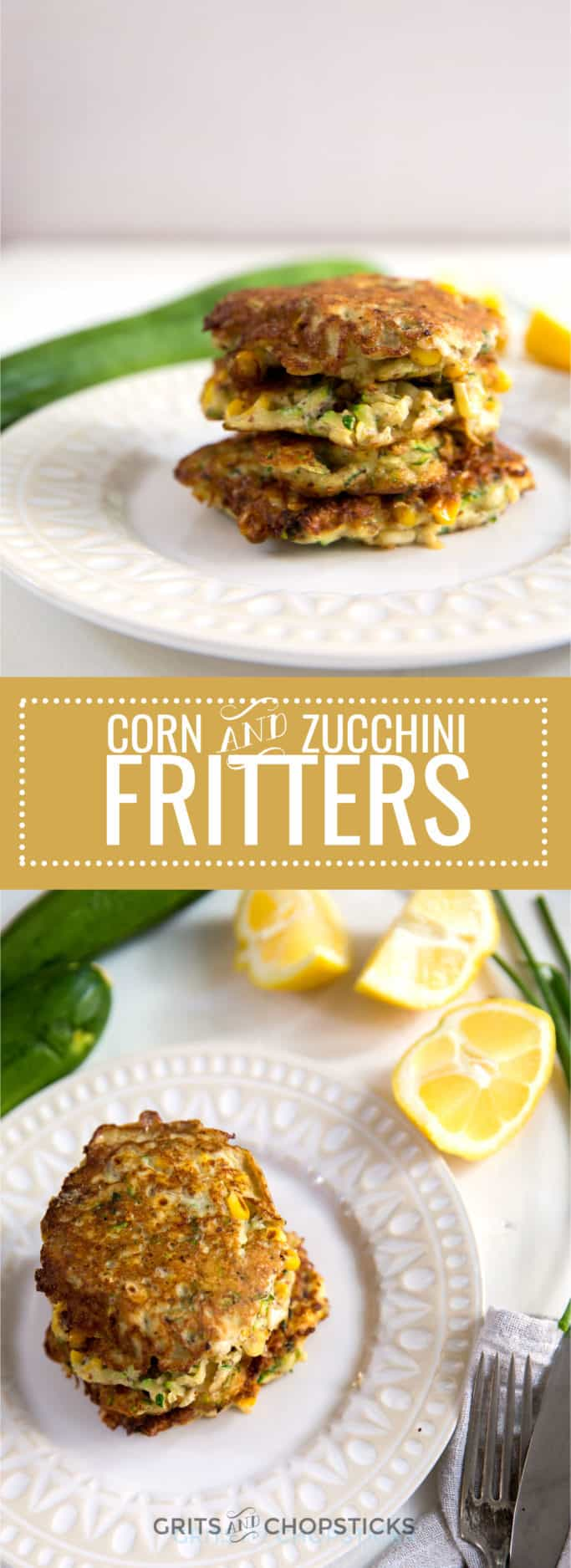 These corn and zucchini fritters are bursting with fresh summer vegetable flavor and a great Meatless Monday option