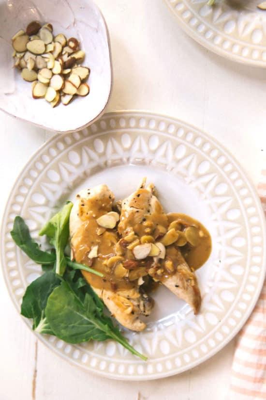 how to make almond chicken gravy