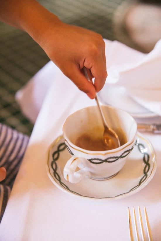 Kid-friendly tea at the Milestone Hotel