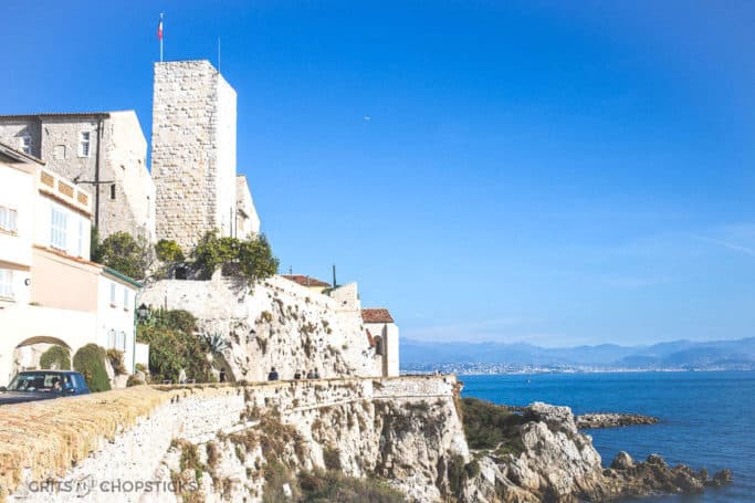 the view of the old city of antibes france