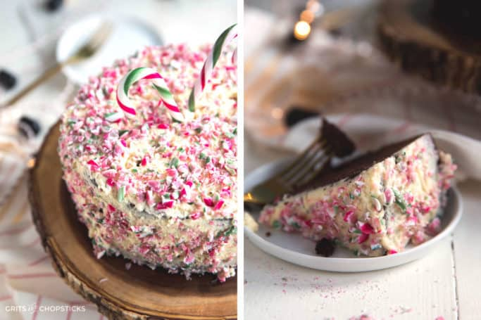 Peppermint chocolate cake made easy with Miss Jones Baking Co.'s all natural organic baking mixes!