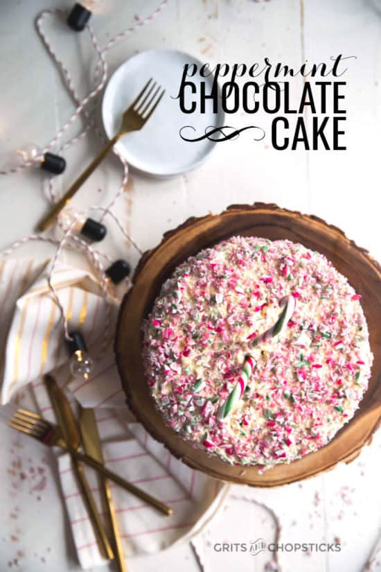 This peppermint chocolate cake is made ridiculously easy and tasty with Miss Jones Baking Company's cake mix and premade icing!