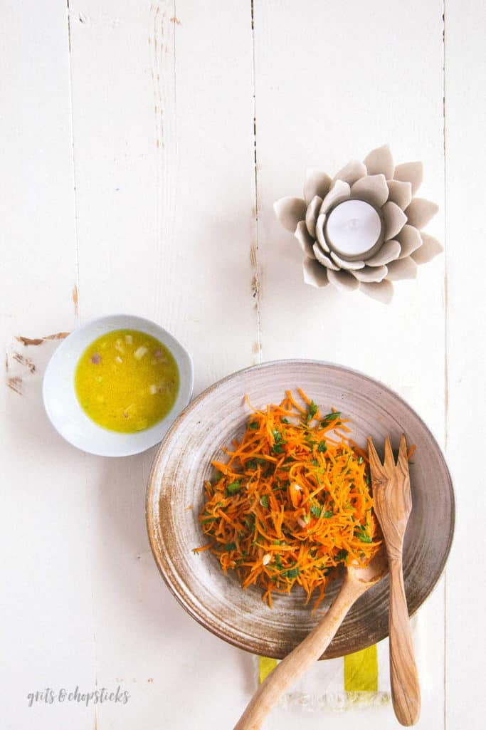 how to make a simple carrot salad