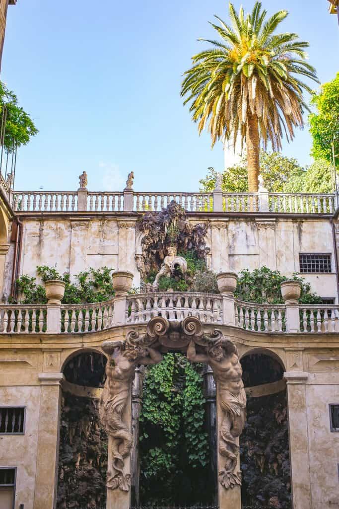 genoa italy courtyard