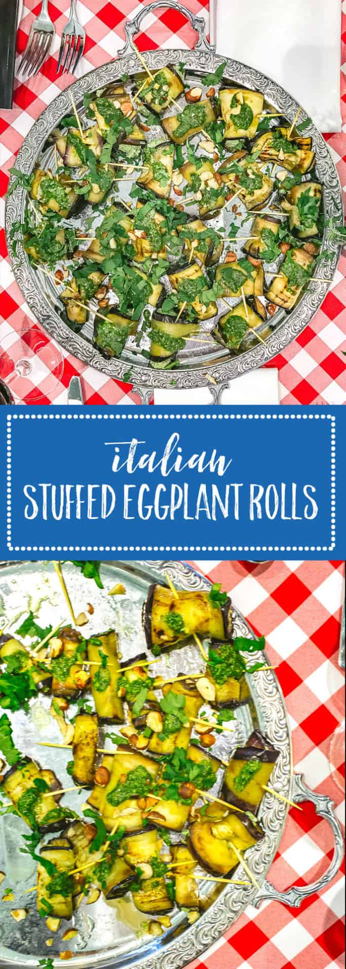 These Italian stuffed eggplant rolls are a must-have for your next summertime grill meal