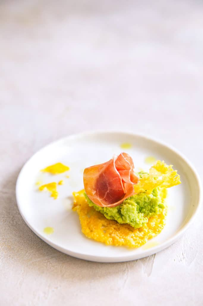 Try these fancy cheese crisps with fava bean pate for your next dinner party! They seem way fancy but are easy to make!