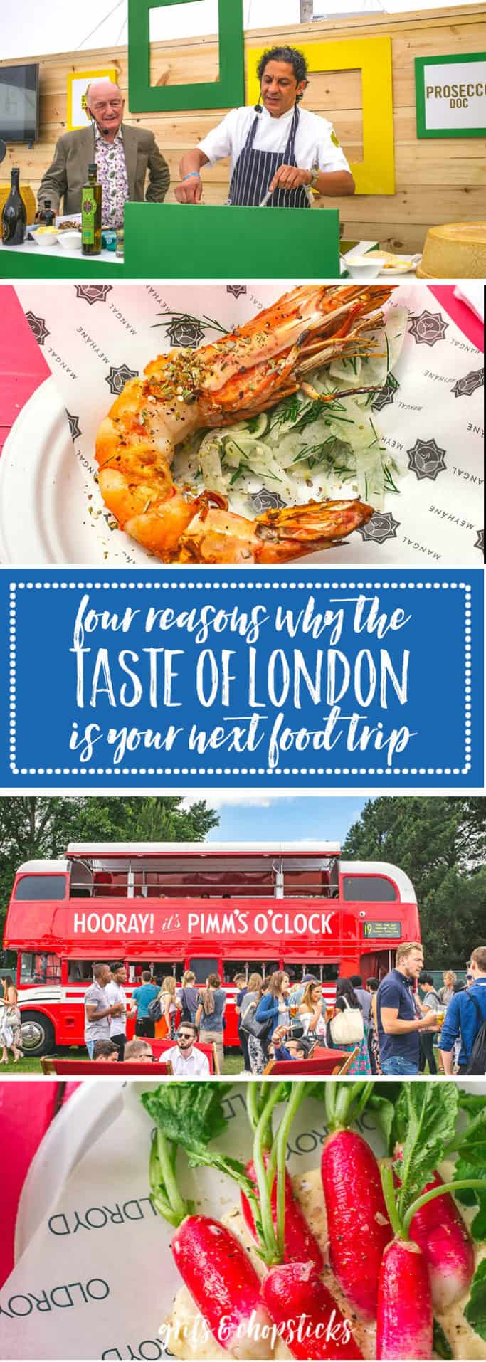 Four reasons why the Taste of London Festival, which happens twice a year, needs to be on your food travel bucket list. Click here to see why!