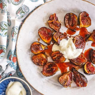 caramelized figs with yogurt (and bacon!) - Grits & Chopsticks