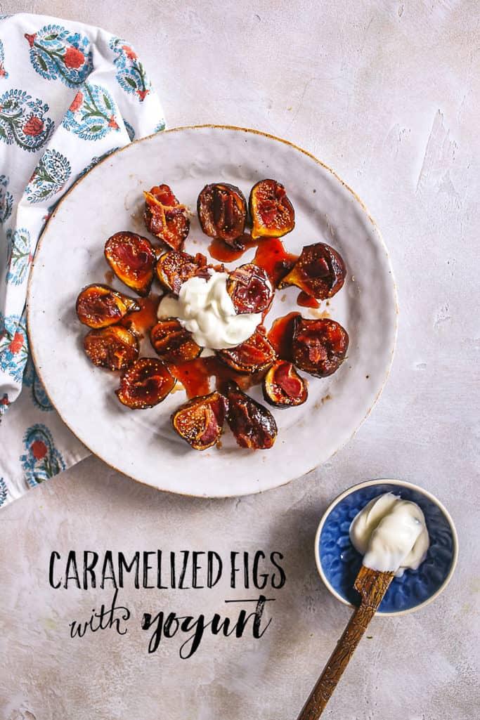 caramelized figs with yogurt