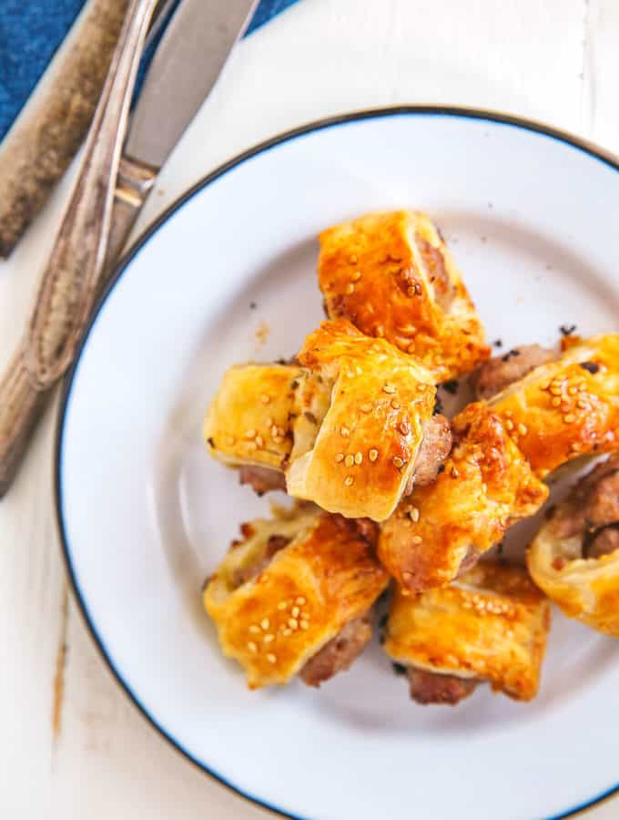 These mini fennel sausage rolls will be a hit for your holiday party!