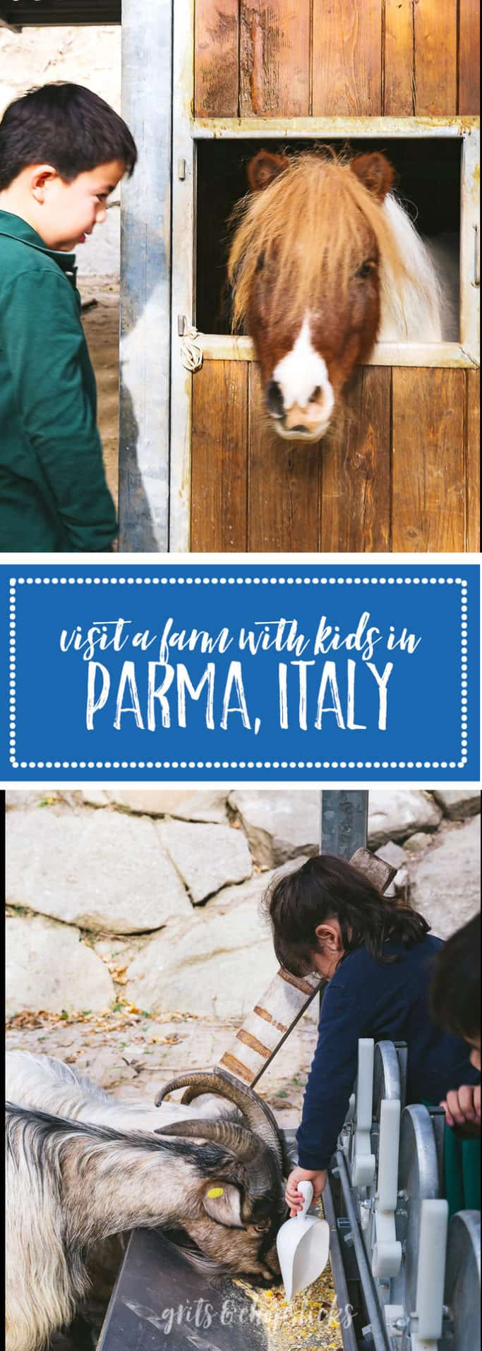 Learn more about visiting an agriturismo (farmhouse) in Parma Italy - it's a great destination for families with young kids!