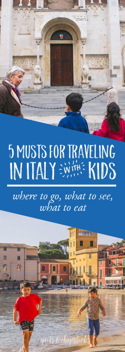 Check out these 5 musts for traveling in Italy with kids! Ideas for what to do, where to go and what to EAT!